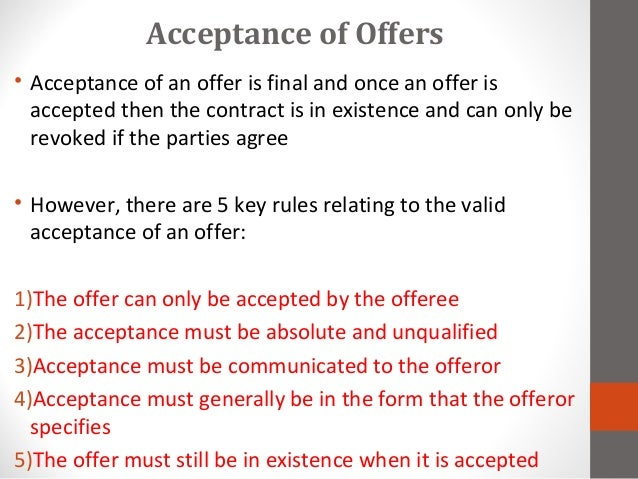 an introduction to the postal acceptance rule Perhaps in contrast with hume and brown, he introduced the subject in the   need for the special postal acceptance rule for which adams was also coming to .