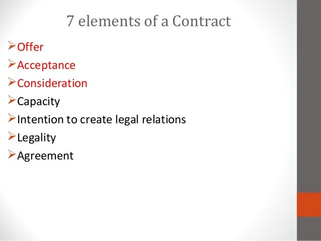 Lecture  Contract Law