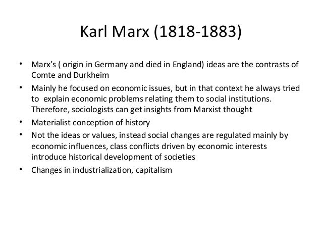 karl marx most important contributions to the field of sociology