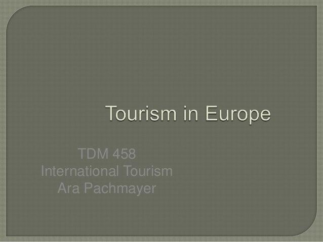 TDM 458International TourismAra Pachmayer