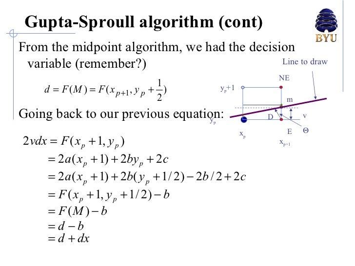 Bresenham Line Drawing Algorithm With Anti Aliasing : Lecture anti aliasing