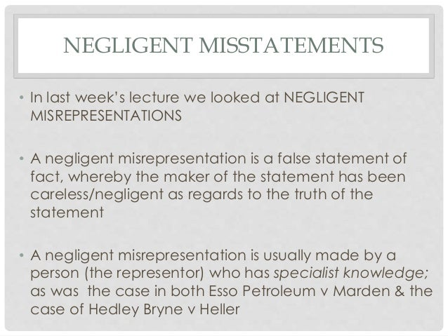 what is the definition of innocent misrepresentation