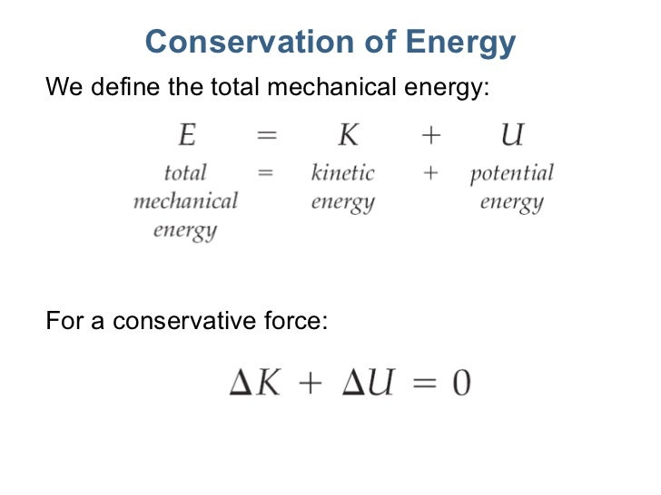 Lecture17 energy Formula Of Mechanical Energy