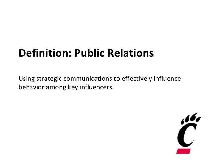 Defining Public Relations Essay