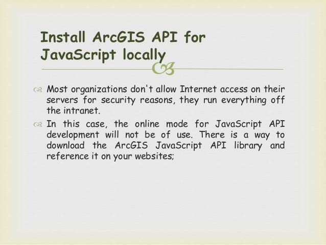 ArcGIS API for Javascript Tutorial