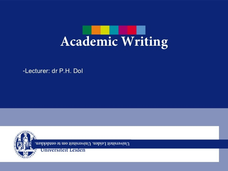 academic writing in english application