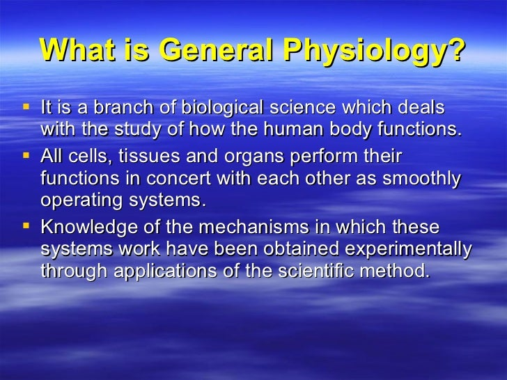lecture1 a gen physiology, Human Body