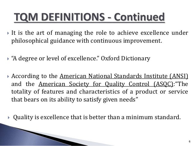 """ It is the art of managing the role to achieve excellence under philosophical guidance with continuous improvement.  """"A ..."""