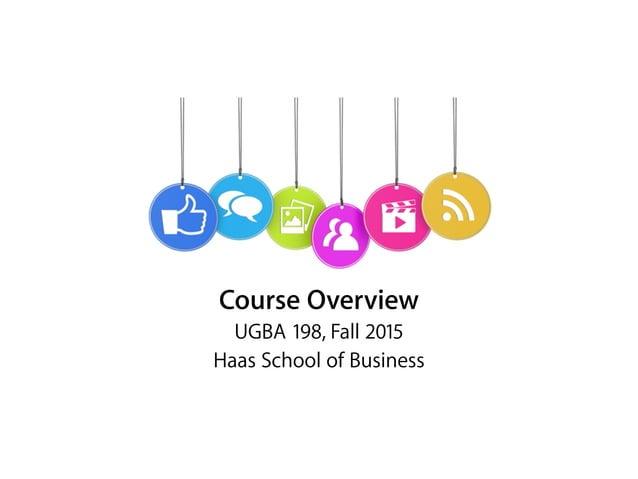 Marketing & Networking UGBA 198, Spring 2016 Haas School of Business