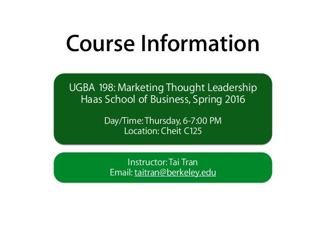 Marketing Thought Leadership Course Overview