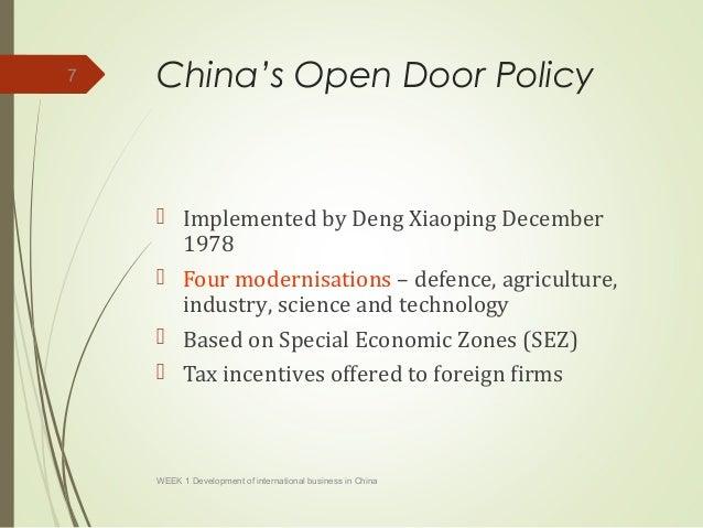 Development Of International Business In China Part 1