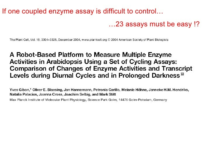 enzyme assays and kinetics Define reaction rates with enzyme kinetics use differential equations, mass action kinetics, or michaelis-menten kinetics to define enzyme reactions simple model for single substrate catalyzed reactions a simple model for.