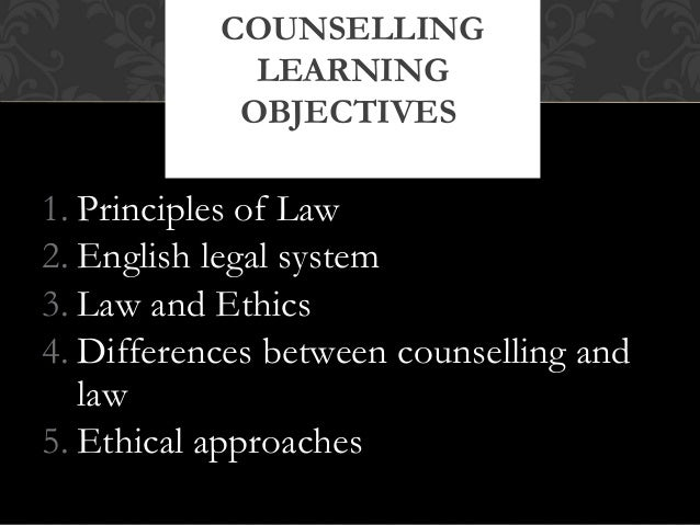 counselling and the law What exactly does a therapist mean when they say that counselling is  confidential  disclosure may be authorised by client consent or the law.