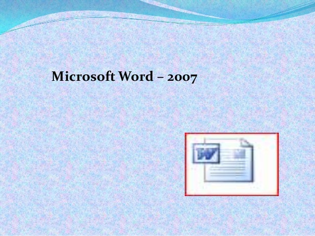 Microsoft Word – 2007