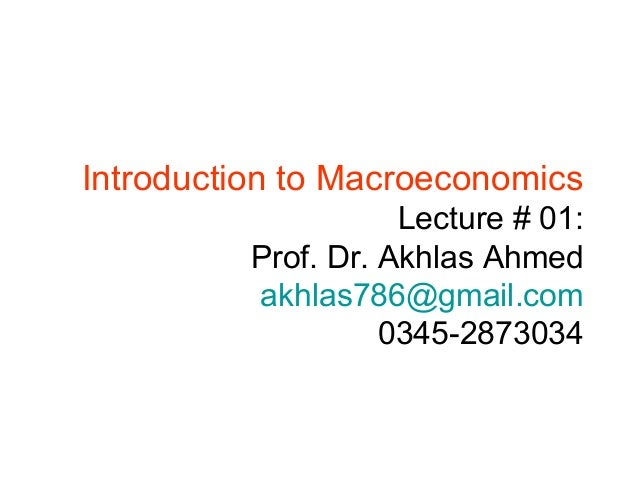 intro to macroeconomics