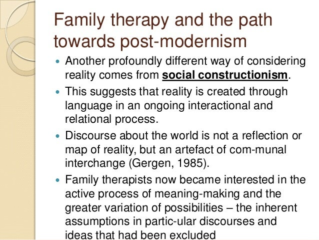 postmodern family therapy