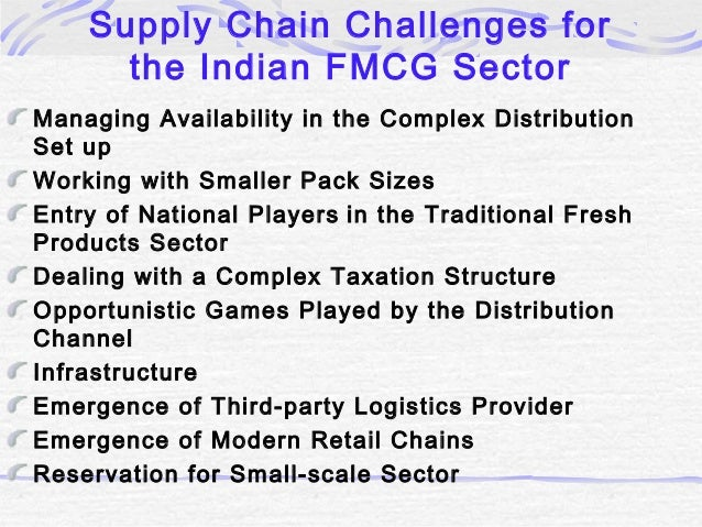 Supply Chain Management in Indian FMCG Sector