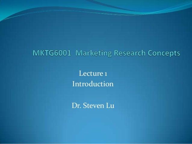 Lecture 1IntroductionDr. Steven Lu