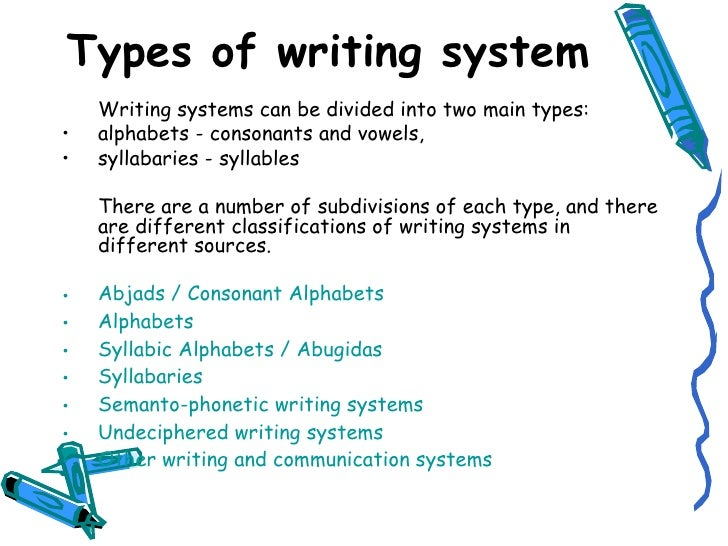 different writing systems
