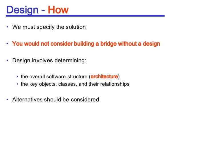 Which Of The Following Are Fundamental Issues In Software Design