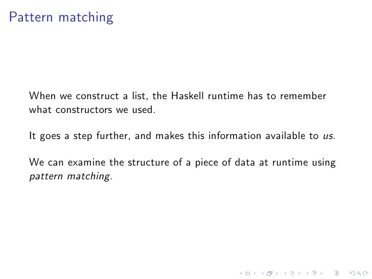Haskell match