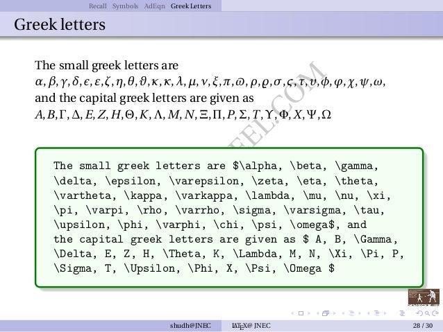 Typesetting Mathematics With Latex Day 2