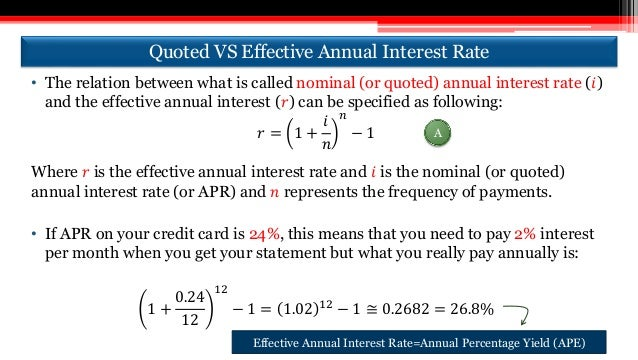 What Is Effective Interest Rate?
