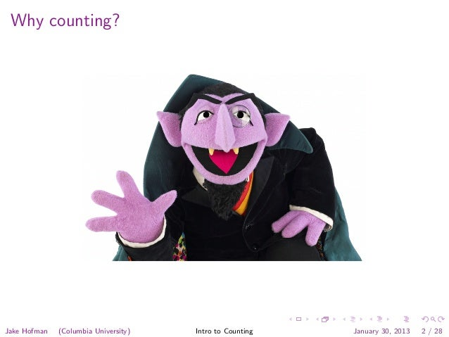 Modeling Social Data, Lecture 2: Introduction to Counting Slide 2