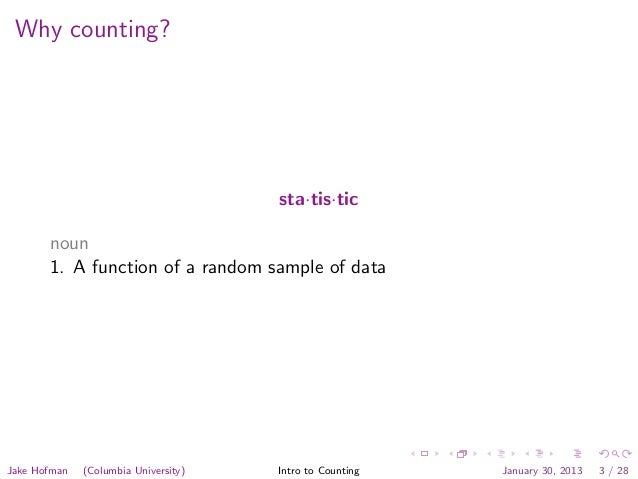 Modeling Social Data, Lecture 2: Introduction to Counting Slide 3
