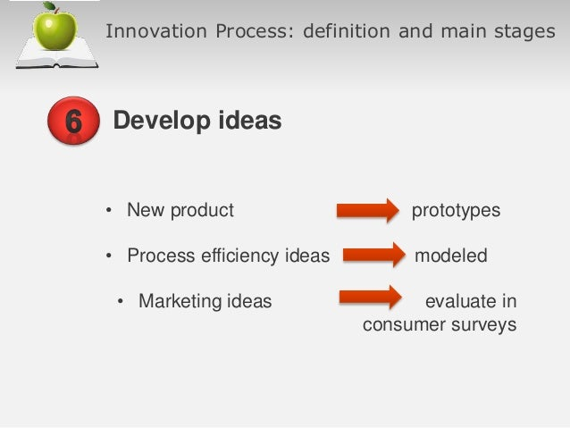innovative process paper A best-practice innovation process (scientifically proven to work) want to know the eight steps to achieving sustainable, predictable and repeatable innovation .