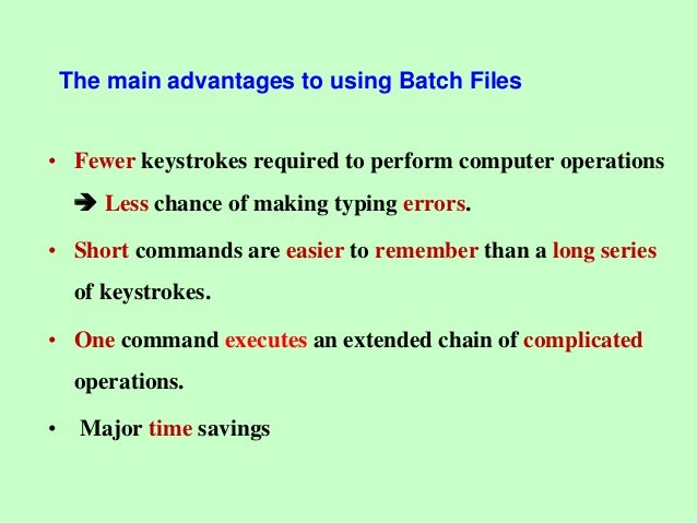 Introduction to Command Line & Batch files