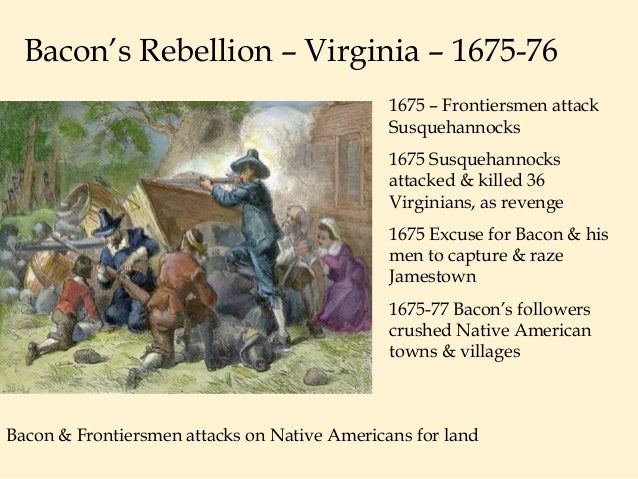 A report on bacons rebellion of 1675