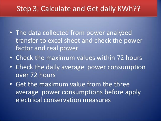 Lecture 2: Electrical load demand analysis and management