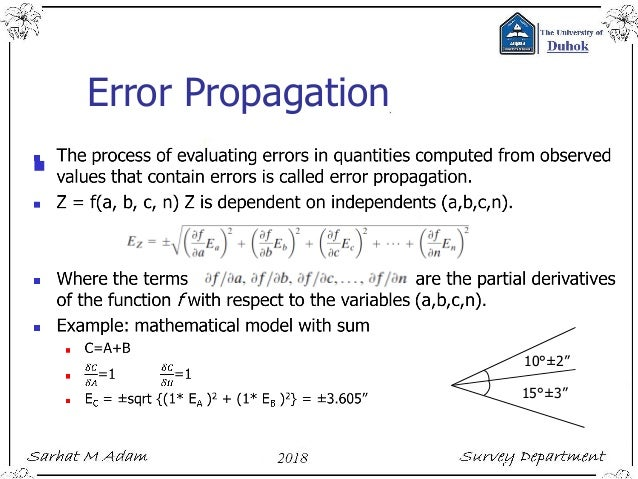 Lecture 2 errors and uncertainty