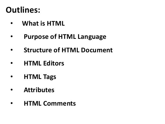 Lecture 2 introduction to html