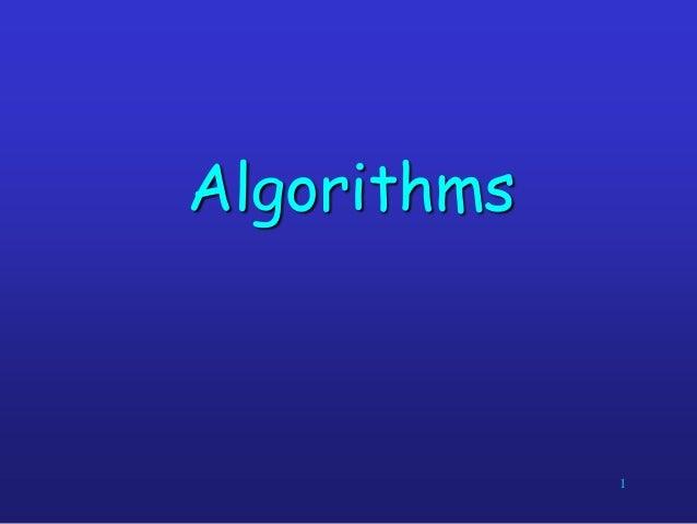 Algorithms  1