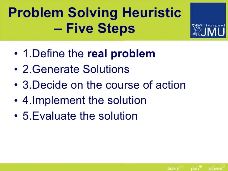 what is problem solving heuristics