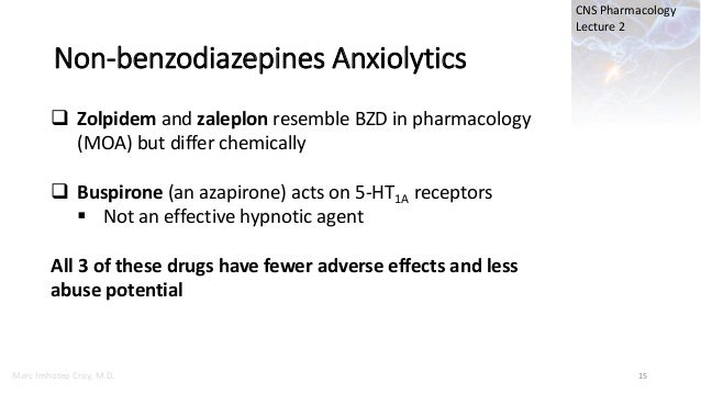 Lect 2 Sedative-Hypnotic and Anxiolytic Drugs