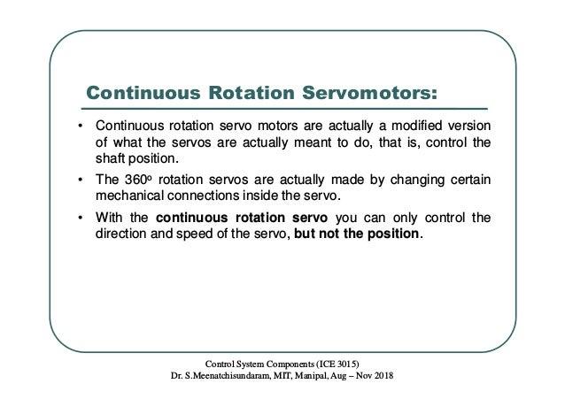 Lecture 2 Servomotors - Basics & Working