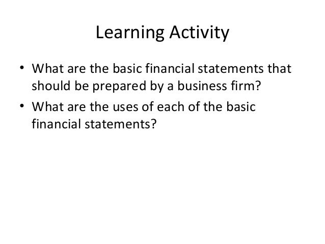 Tools of Financial Analysis and Control