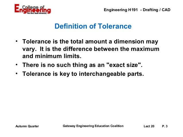 Lecture 20 Fits And Tolerances