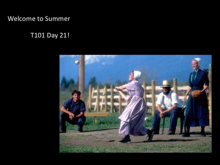 Welcome to Summer<br />T101 Day 21!<br />