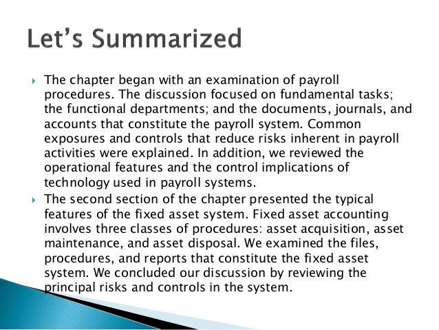 inherent risks in the payroll cycle We did not find significant payroll errors although inherent risks of errors exist  cycle instead of the previous 18-month cycle as stated earlier,.