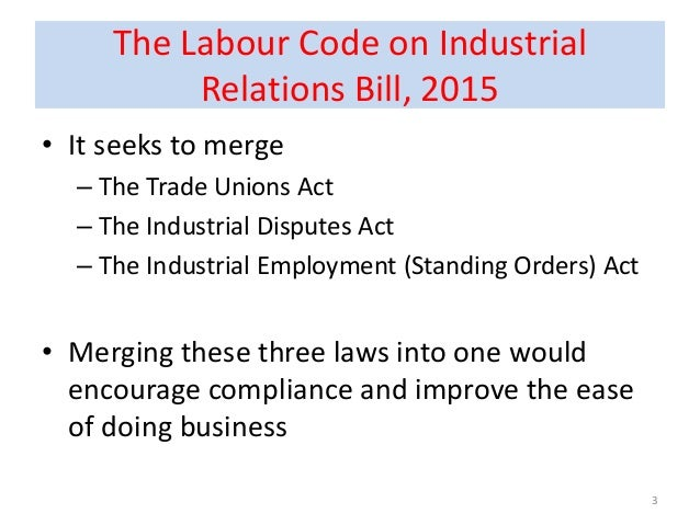 industrial relations and industrial disputes 67 chapter – iii law relating to settlement of industrial disputes 31 origin and history of industrial dispute act, 1947 the origin and history of industrial.