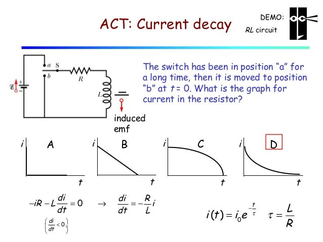 how to find time constant for rlc circuit from graph