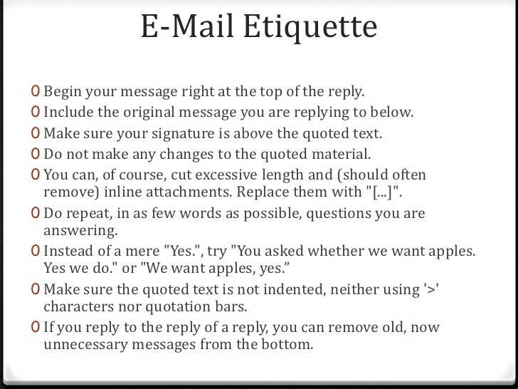 Lecture 28 2012 Email Etiquette