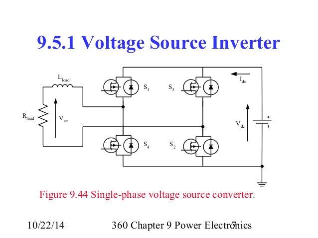 lecture 28 360 chapter 9 power electronics inverters rh slideshare net circuit diagram dc voltage source circuit diagram dc voltage source