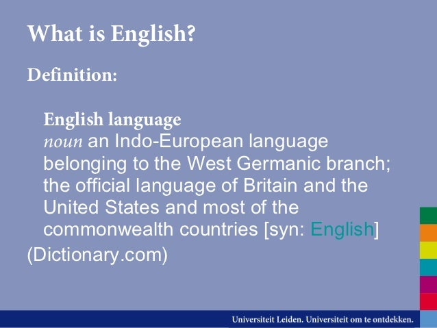 definition of english language pdf