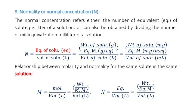 solutions and their concentrations in Analytical chemistry by Azad Al…