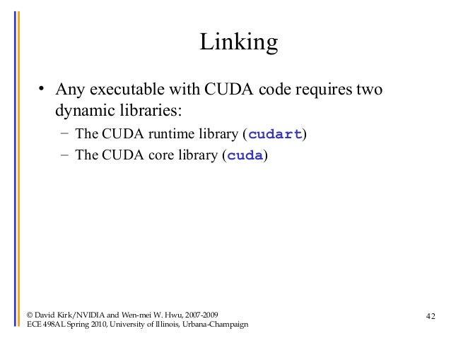 Lecture2 cuda spring 2010